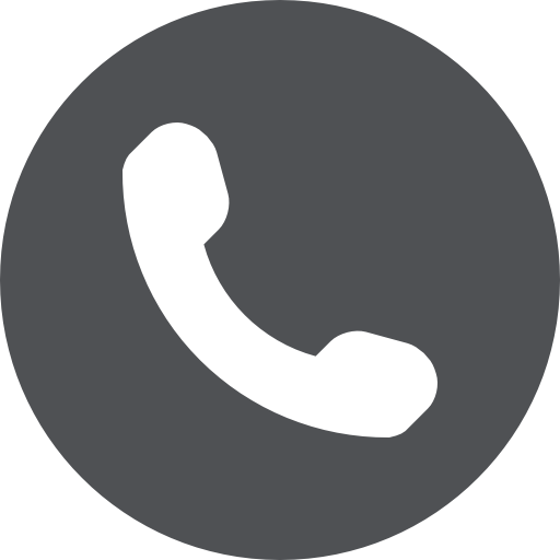 phone symbol of an auricular inside a circle 2